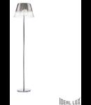 Lampa de podea Cylinder, 2 becuri, dulie E27, D:400mm, H:1750mm, Crom