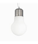 Pendul Luce Bianco mare, 1 bec, dulie E27, D:300mm, H:540/1400mm, Alb