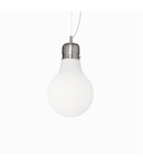 Pendul Luce Bianco mic, 1 bec, dulie E27, D:220mm, H:390/1200mm, Alb