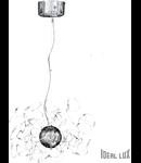 Lustra Faville, 22 becuri, dulie G4, D:640mm, H:550/1000mm, Crom