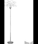 Lampa de podea Faville, 18 becuri, dulie G4, D:600 mm, H:1850 mm, Crom