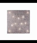 Plafoniera Quadro, 12 becuri, dulie G9, L:780 mm, H:780 mm, Crom