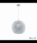 Pendul Emis D40, 1 bec, dulie E27, D:400mm, H:485/1475mm, Transparent