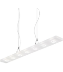 Pendul Lylia, 7 LED, L:800 mm, H:350/750 mm, Transparent