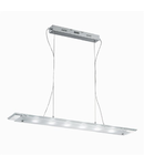 Pendul Office, 7 LED, L:800 mm, H:150/800 mm, Transparent