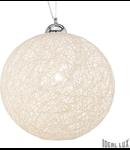 Pendul Basket D40, 1 bec, dulie E27, D:400 mm, H:360/1200 mm, Alb