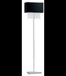 Lampa de podea Phoenix, 1 bec, dulie E27, L:440 mm, H:1600 mm, Negru