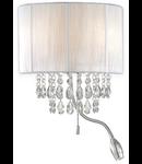 Aplica Opera, 1 LED + 2 becuri, dulie E14, L:300 mm; H:350 mm; Alb