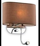 Aplica Sheraton, 2 becuri, dulie G9 + LED, L:300 mm; H:350 mm; Maro