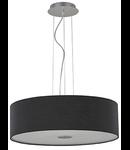 Lustra Woody, 5 becuri, dulie E27, D:600 mm, H:300/1100 mm, Negru