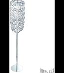 Lampa de podea Alba, 8 becuri, dulie E14, D:325 mm, H:1680 mm, Transparenta
