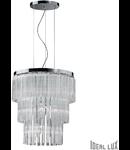 Lustra Elegant, 12 becuri, dulie E14, D:410 mm, H:500/1150 mm, Transparenta