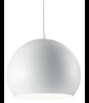 Pendul Pandora, 1 bec, dulie E27, D:250 mm, H:500/1190 mm, Alb