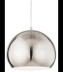 Pendul Pandora, 1 bec, dulie E27, D:250 mm, H:500/1190 mm, Nichelat
