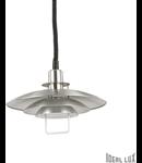 Pendul Copenhagen, 1 bec, dulie E27, D:430 mm, H:700/1650 mm, Aluminiu