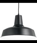 Pendul Moby, 1 bec, dulie E27, D:400 mm, H:400/1300 mm, Negru