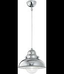 Pendul Sailor D43, 1 bec, dulie E27, D:430mm, H:500/1600 mm, Crom