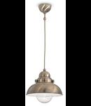 Pendul Sailor D43, 1 bec, dulie E27, D:430mm, H:500/1600 mm, Cupru