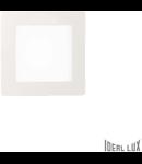 Spot incastrat, Groove, 10W, 800Lm, LED, Patrat, Alb