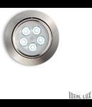 Spot incastrat Delta, D:105 mm 5W, 450Lm, LED, Rotund, Nichel