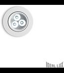Spot incastrat Delta, D:85 mm, 3W, 270Lm, LED, Rotund, Alb