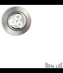 Spot incastrat Delta, D:85 mm, 3W, 270Lm, LED, Rotund, Nichel