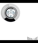 Spot incastrat Delta, D:85 mm, 3W, 270Lm, LED, Rotund, Crom