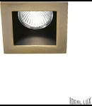Spot incastrat Funky, D:90 mm, 50W, dulie GU10, Patrat, Brun