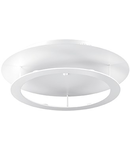 Plafoniera Turbin, 6 LED, 1770 Lm D:500 mm, H:110 mm, Alb