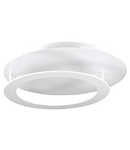 Plafoniera Turbin, 4 LED, 1284 Lm, D:400 mm, H:110 mm, Alb