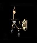 Aplica Diamant Elegant Grace,1 x E14, 230V, D.12cm,H.39 cm,Bronz