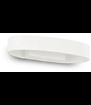 Aplica Zed Ovala, 1 LED, 390 Lm, L:135 mm, H:120 mm, Alb