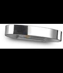 Aplica Zed Ovala, 1 LED, 390 Lm, L:135 mm, H:120 mm, Crom