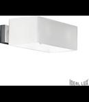 Aplica Box, 2 becuri, dulie G9, L:200 mm, H:70 mm, Alb