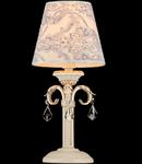 Veioza Elegant Velvet 1 bec,dulie E14,230V,Diam. 14cm ,H38cm,Alb-Auriu
