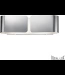 Aplica Clip Mica, 2 becuri, dulie E27, L:440 mm, H:127 mm, Crom