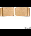 Aplica Clip Mica, 2 becuri, dulie E27, L:440 mm, H:127 mm, Auriu
