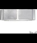 Aplica Clip Mini, 2 becuri, dulie G9, L:253 mm, H:90 mm, Argintiu