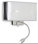 Aplica Hotel, 2 becuri, dulie E27 + LED, L:320 mm, H:225 mm, Crom