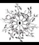 Plafoniera Spring, 5 becuri, dulie E14, D:750 mm, H:185 mm, Fumuriu