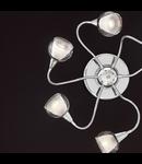 Plafoniera Tender, 6 becuri, dulie E14, D:800 mm, H:90 mm, Transparenta
