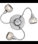 Plafoniera Tender, 3 becuri, dulie E14, D:800 mm, H:90 mm, Transparenta