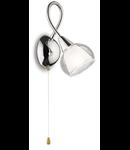 Aplica Tender, 1 bec, dulie E14, L:450 mm, H:450 mm, Transparenta