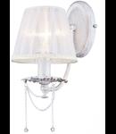 Aplica Diamant Elegant Lolita,1 x E14, 230V, D.15cm,H.29 cm,Auriu-Alb