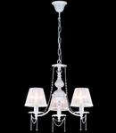 Candelabru Elegant Lolita,3 becuri dulie E14, 230V,D.50cm, H.47 cm,Alb-auriu