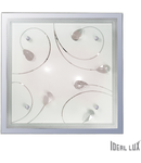 Plafoniera Esil, 2 becuri, dulie E27, L:335mm, H:335 mm, Transparenta