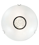 Plafoniera Oblo, 2 becuri, dulie E27, D:300 mm, H:90 mm, Alba
