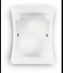 Aplica Triplo, 2 becuri, dulie E27, L:295 mm, H:380 mm, Transparenta