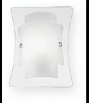 Aplica Triplo, 1 bec, dulie E27, L:215 mm, H:275mm, Transparenta