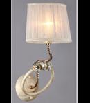 Aplica Elegant Deco,1 x E14, 230V, D.17cm,H.44 cm,Auriu-alb
